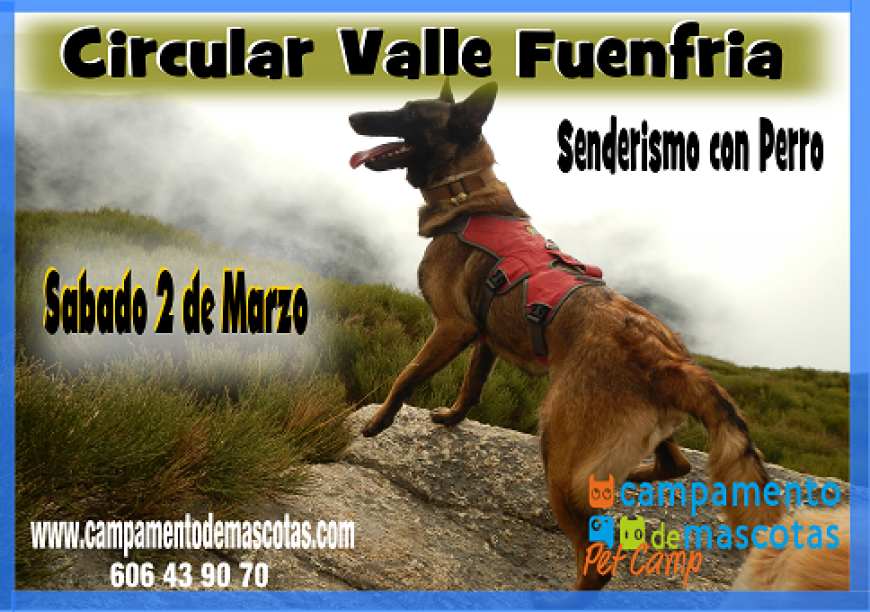 """Senderismo con perro 2 de marzo: """"Valle de la Fuenfría"""""""